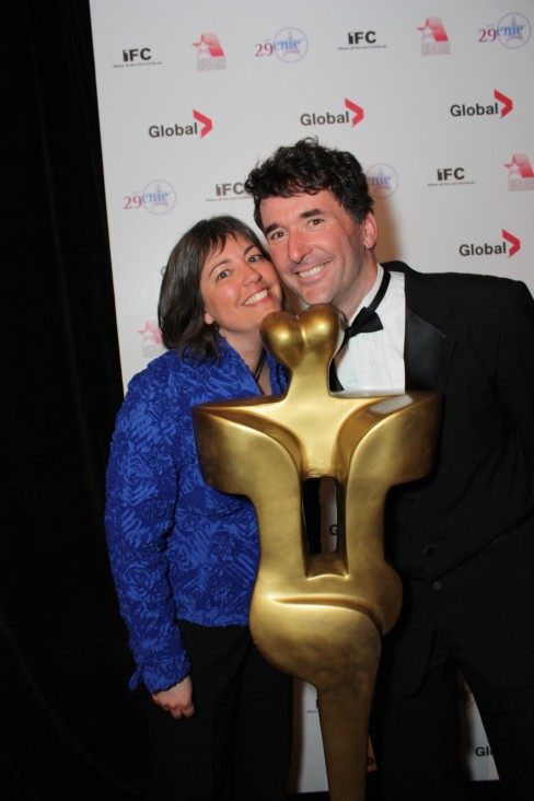 Paul Dewar and partner