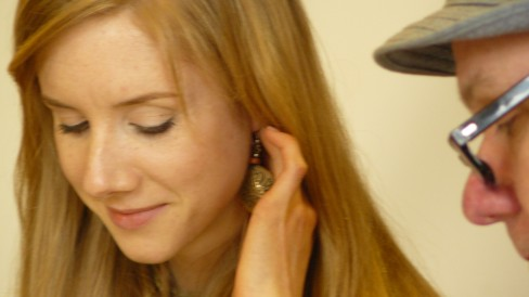 Pippa Leslie (Raina) listening to the sweet nothings of Sergius, with Andy in the background.